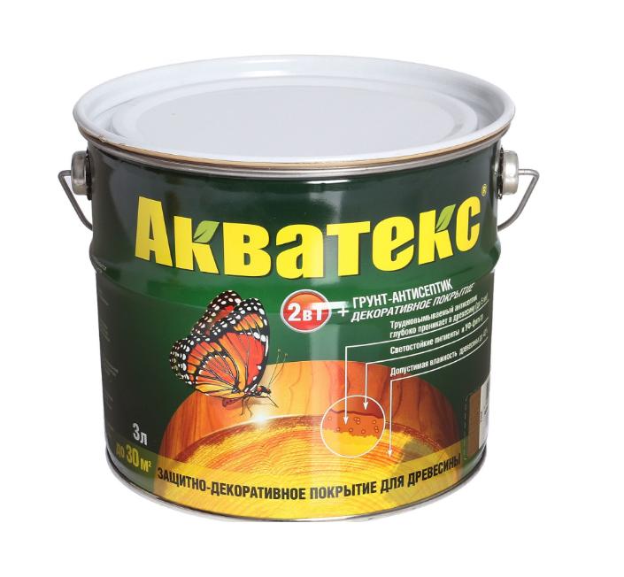АКВАТЕКС ГРУНТ-АНТИСЕПТИК - 3л