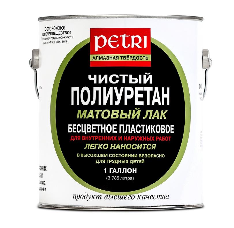 ПЕТРИ ДАЙМОНД ХАРД лак 100% полиуретан П/Мат - 3,8л