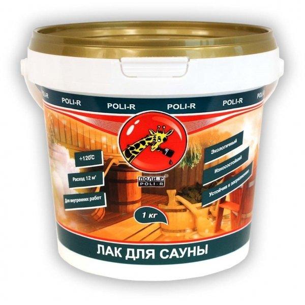 Акриловый лак ПОЛИ Р для саун - 1л