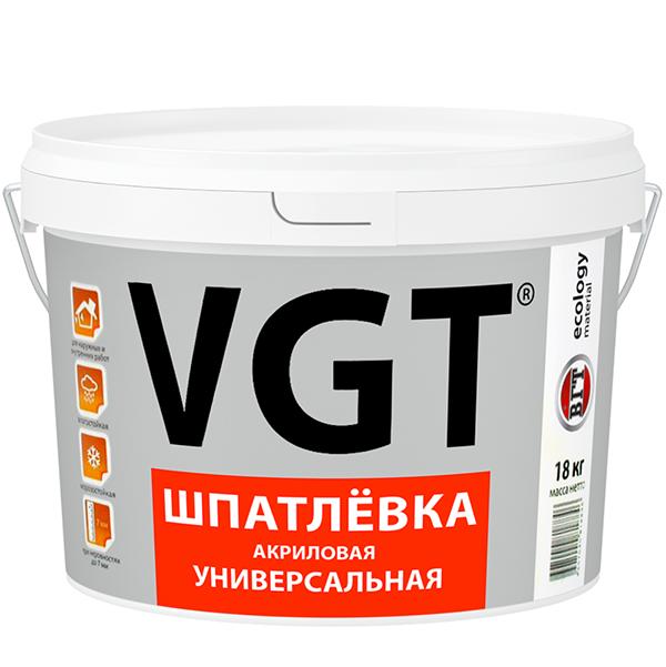 ВГТ шпатлевка акриловая универсальная - 18кг