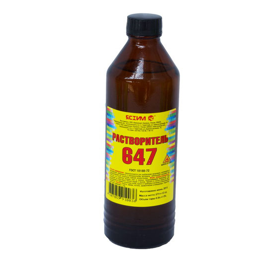 Растворитель 647 'ЯСХИМ'  - 0,5л